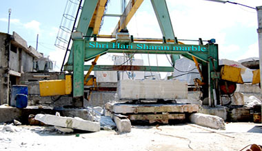raw marble blocks Gantry Cranes